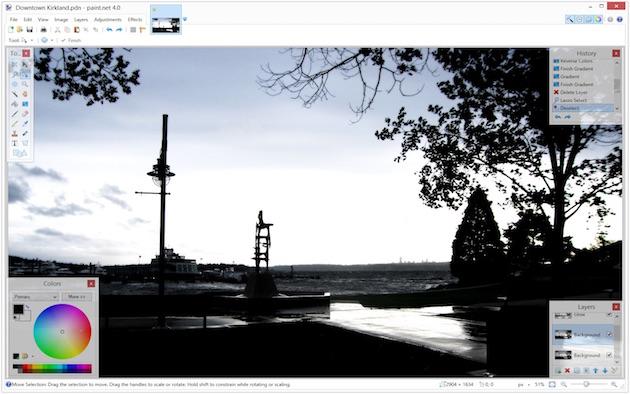 Программа Paint.NET не столь функциональна, как Photoshop или GIMP, но зато намного легче и быстрее.