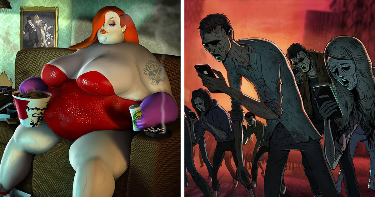 Грустная правда о современной жизни в острых карикатурах Стива Каттса (17 фото)