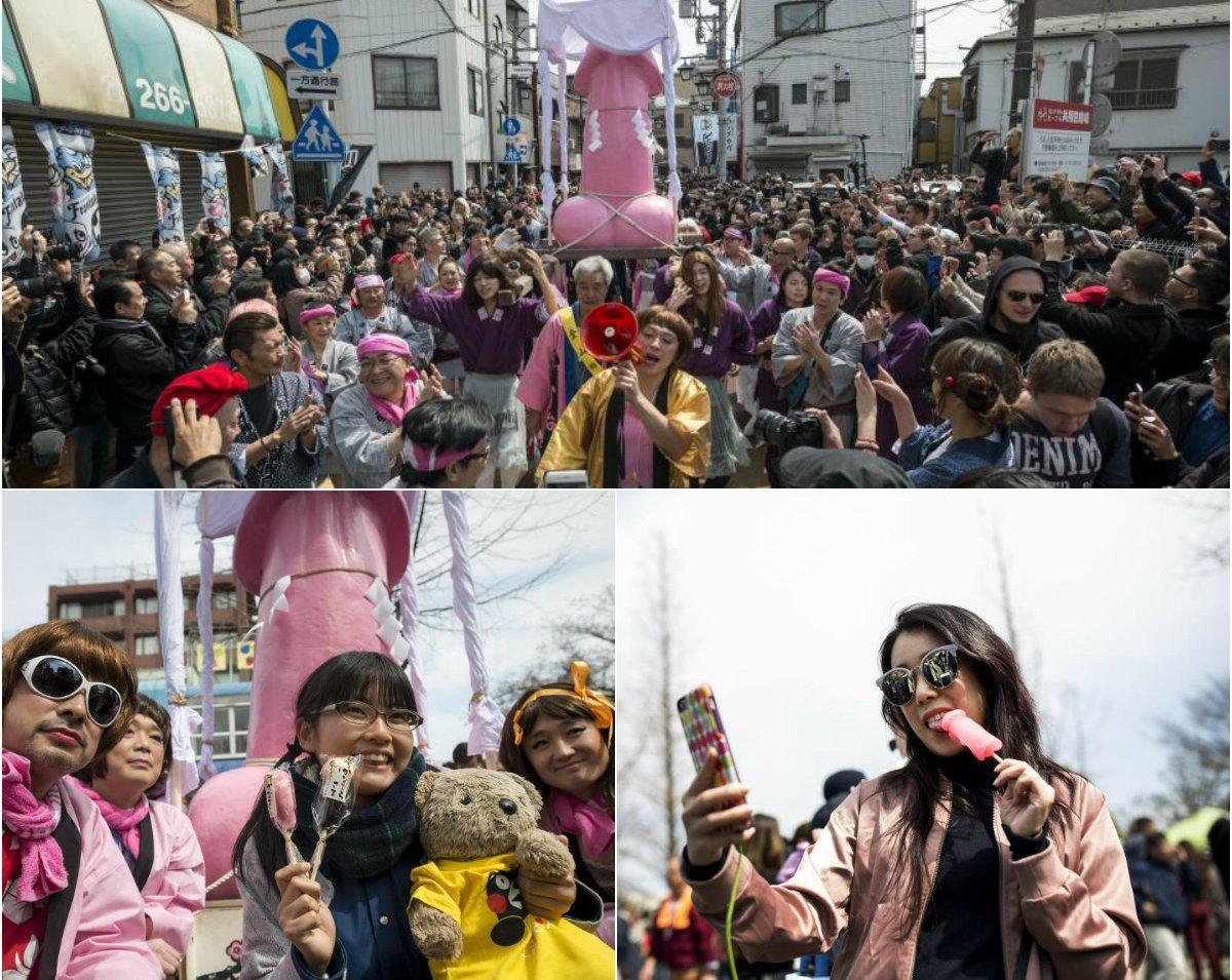 Ежегодный фестиваль пениса в Японии (12 фото)