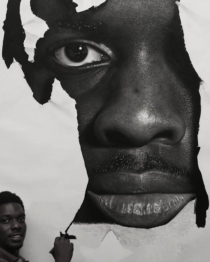 Невероятные картины нарисованные простыми карандашами от Ken Nwadiogbu