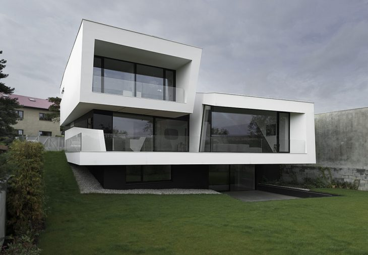 Closer Architects  designed this stunning futuristic two-story residence located in