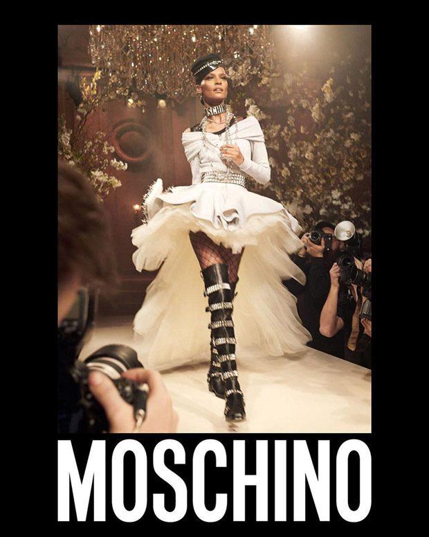 Naomi Campbell, Liya Kebede + More Model Moschino SS18 Collection