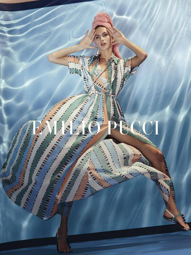 Valery Kaufman Models Emilio Pucci Spring Summer 2018 Collection (5 pics)