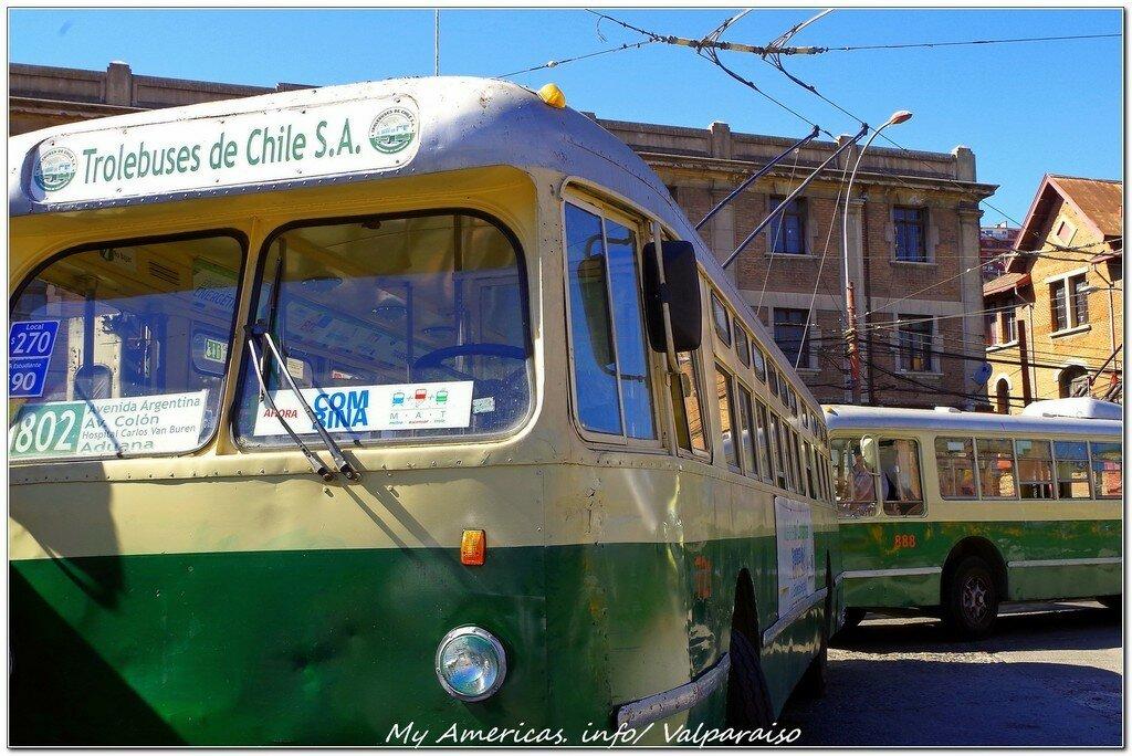 Троллейбусы Вальпараисо — национальное достояние Чили!