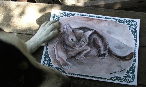 Бэрис и нарисованный котенок