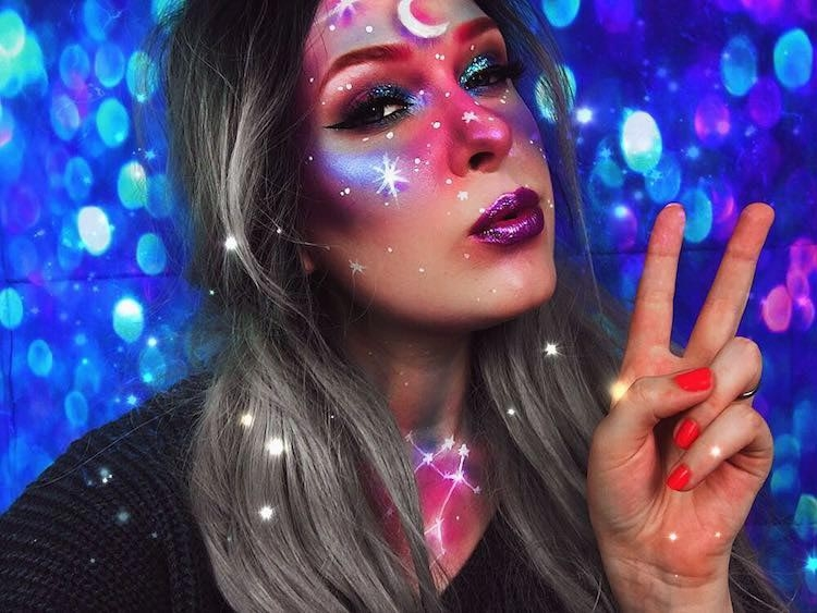 New fashion trend: galactic makeup