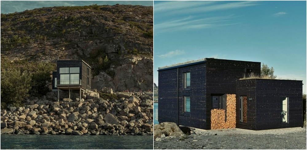 Домик на острове у побережья Норвегии