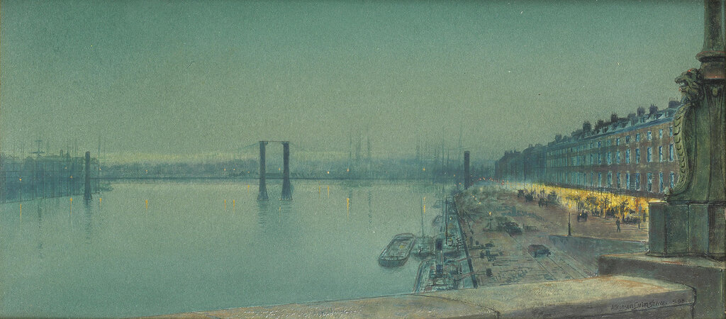 1878_Набережная в Руане. 17 x 36.5 см.jpg