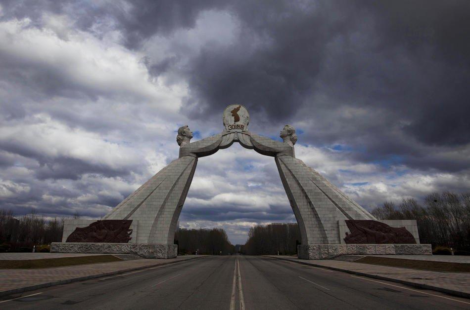 Центральный район Пхеньяна, Северная Корея, 18 апреля 2011:
