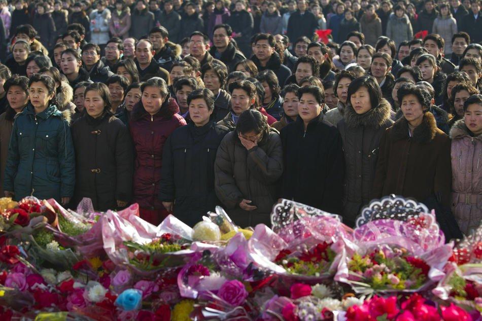 Военные построения в день рождения покойного Ким Чен Ира, 16 февраля 2012: