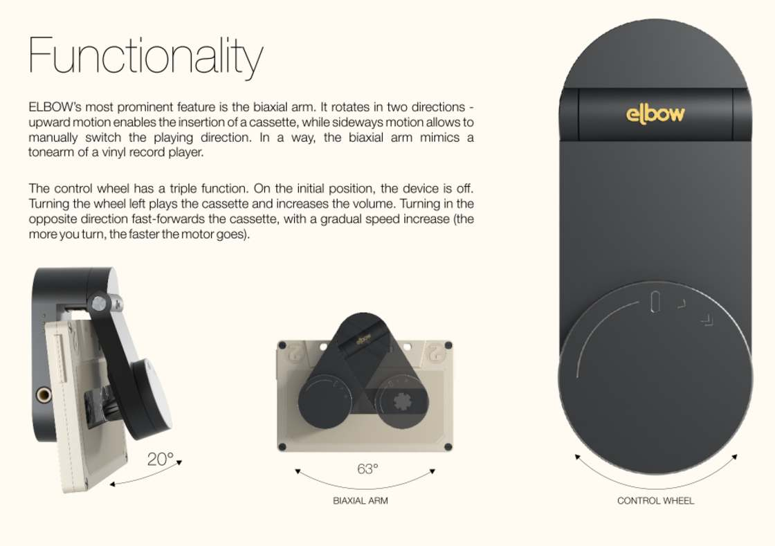 ELBOW - A modern and minimalist walkman for your old cassettes