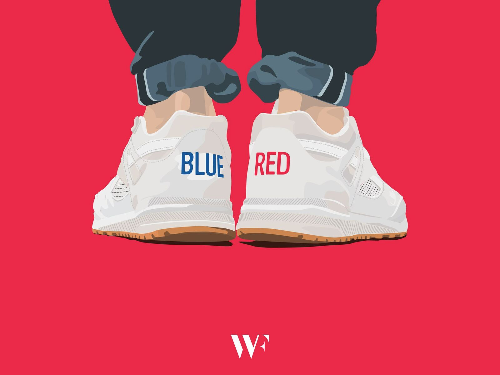 Lovely Sneakers Illustrations by Stanley Wong