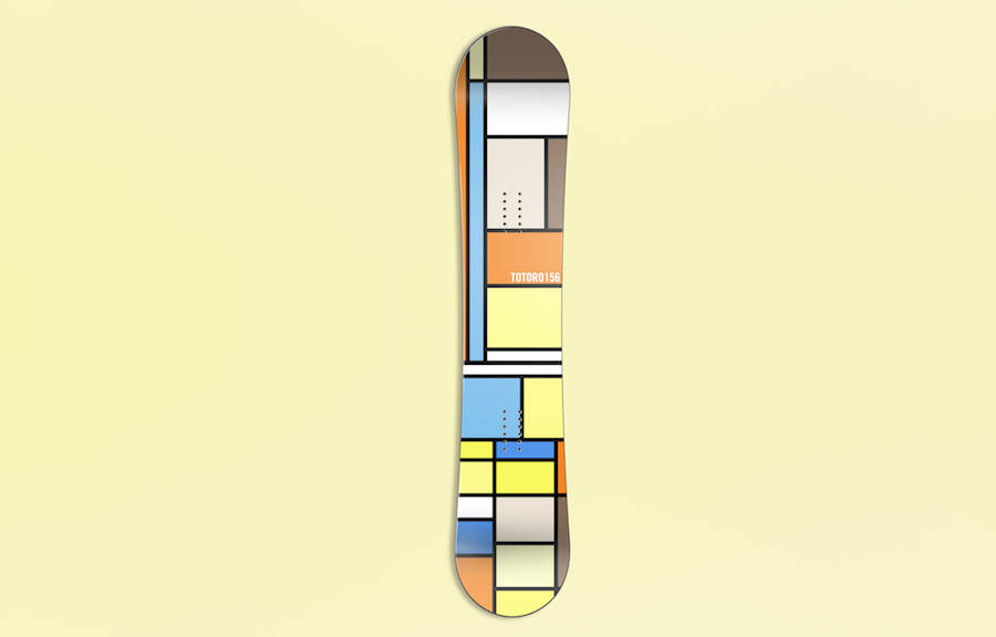 Mondrian Boards Illustrations Inspired by Pop Culture