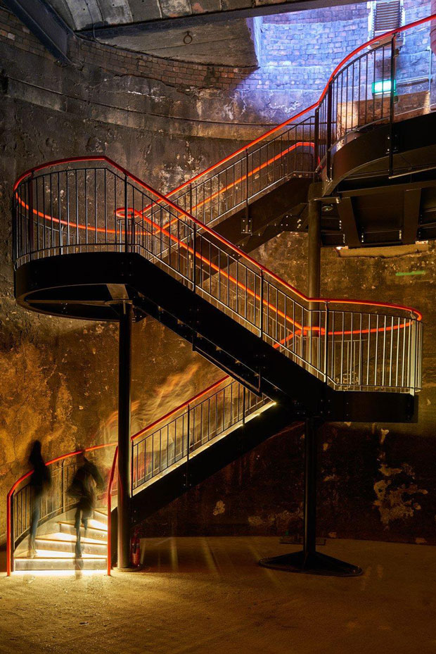 Staircase in Brunel's 'sinking shaft' in London   Take Tate Harmer's transformation of Brunel's