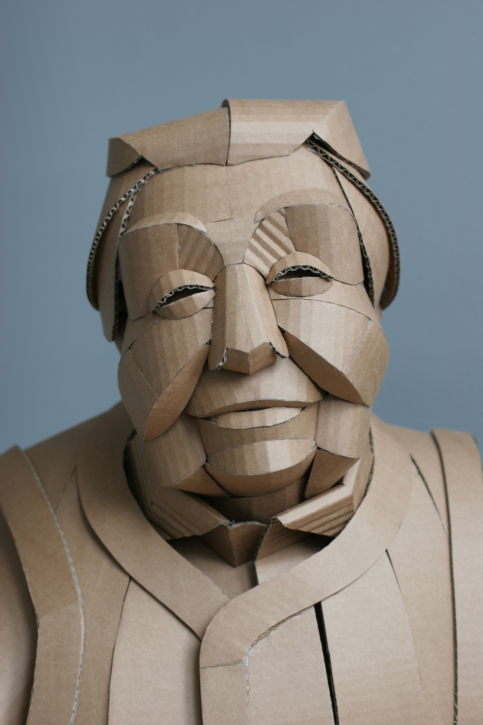 Warren King began sculpting with cardboard as an attempt to add fantasy to the lives of his children