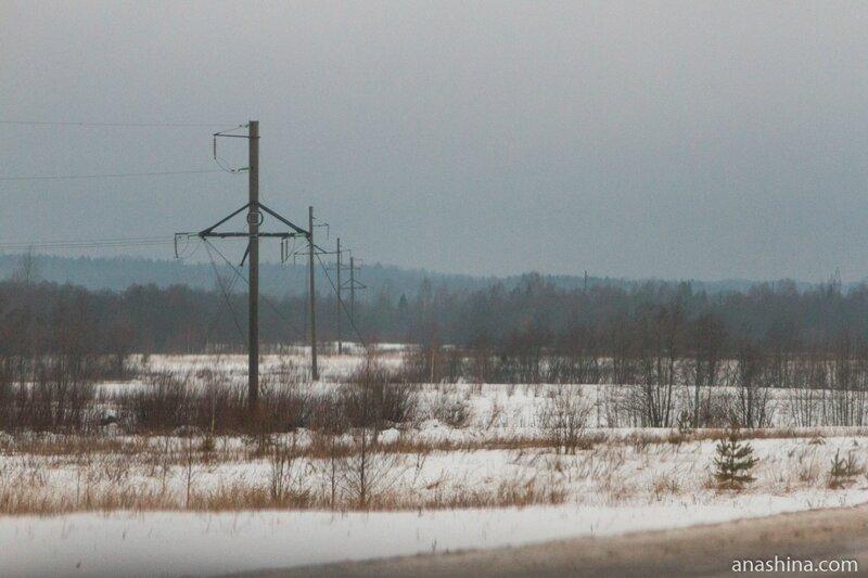 Зимний пейзаж, Вологодская область