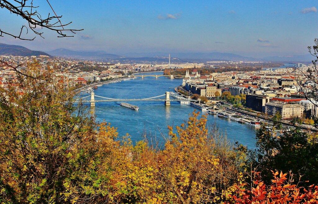 Будапешт  - вид с горы Геллерт