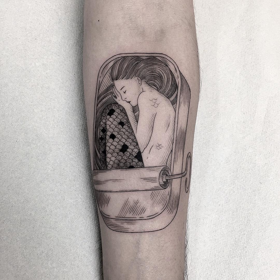 Pure Black and White Tattoos