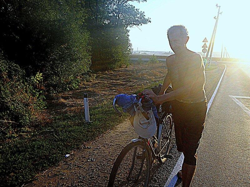 Утро... В пути ... 13. Фото из велокольца. Ахтари-Староминская-Бейсугский пролив (85).JPG
