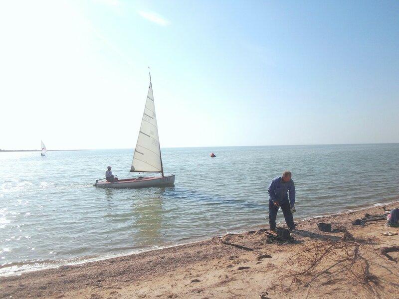 Яхты подходят, каша варится, чай готов ... 30. Фото из велокольца. Ахтари-Староминская-Бейсугский пролив (192).JPG