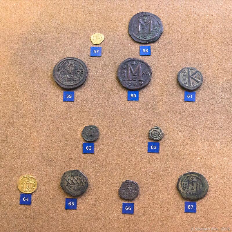 Монеты времен Византийской империи. Константинополь.