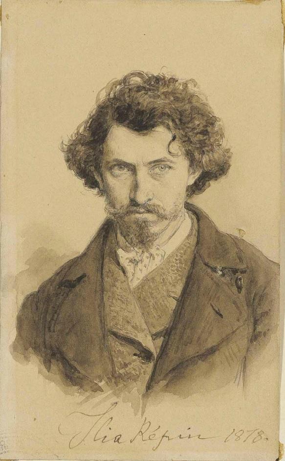 Репин Илья Ефимович, автопортрет, 1878, Гельсингфорс,