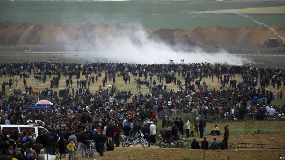 Протесты в секторе Газа трое палестинцев погибли