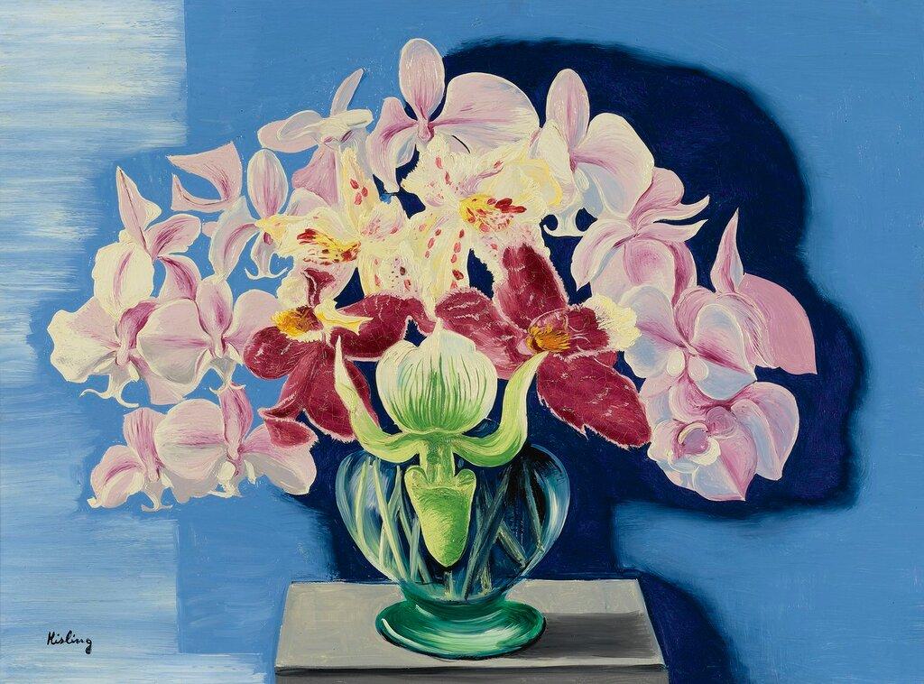 Орхидеи. 1938. 54.6 х 73.4 см. масло, холст. Частная коллекция.jpg