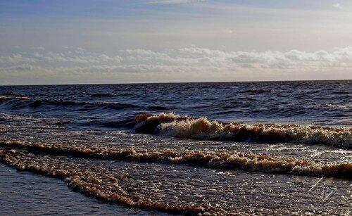 Набегает на берег волна