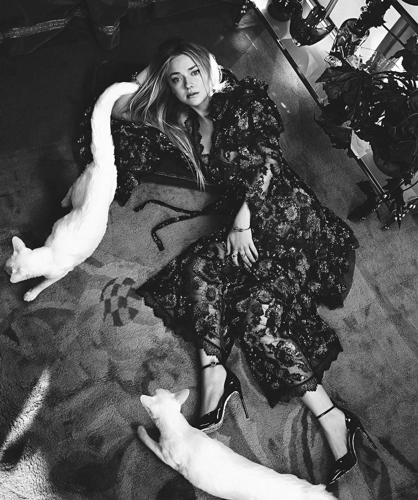 Dakota Fanning by Emma Summerton for Vogue Australia February 2018
