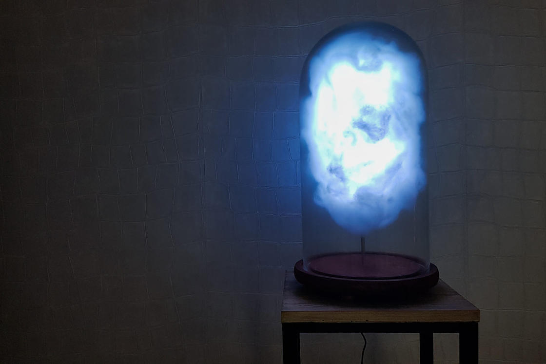 This cloud lamp triggers a storm for every tweet from Donald Trump