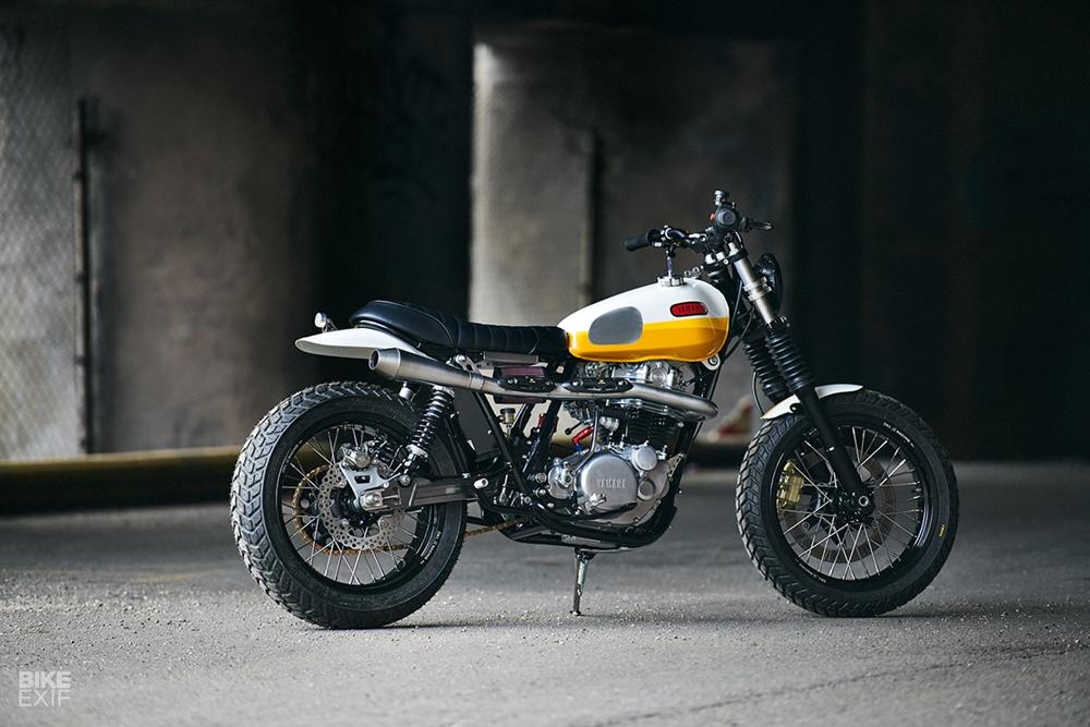 Дэниел Питер: скрэмблер Yamaha SR500