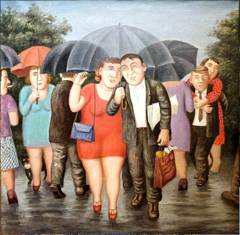 Июльский дождь, 2010 год, художник Владимир Любаров.jpg
