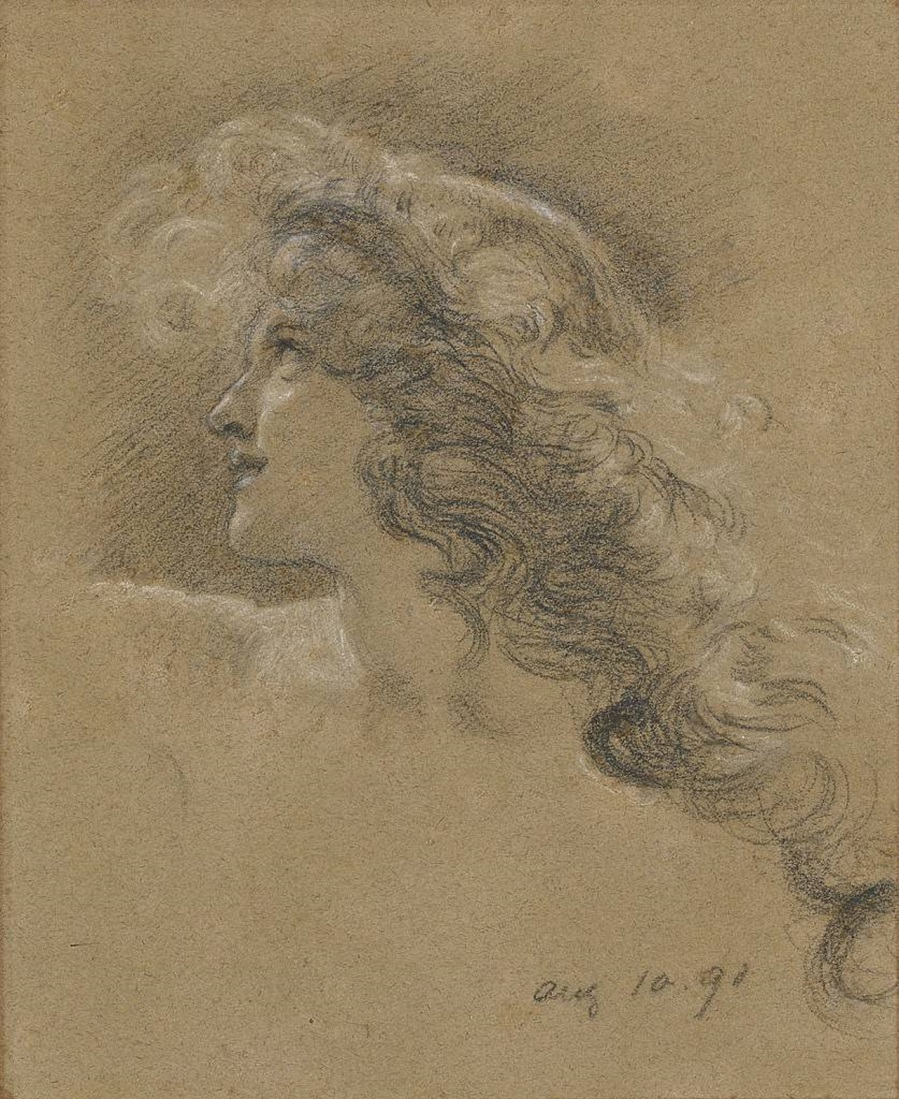 Study for The Cave of the Storm Nymphs, 1891.