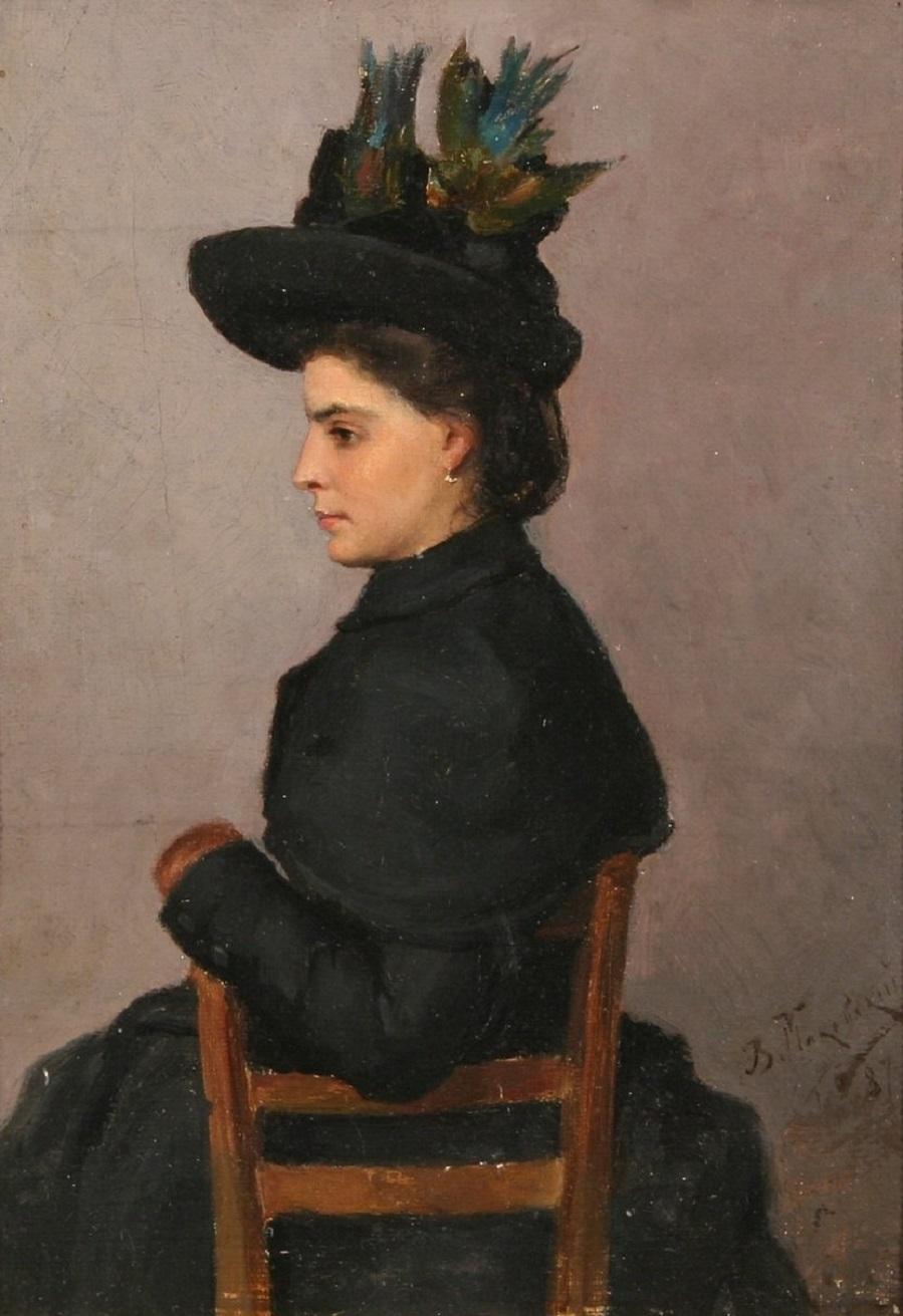 Портрет сидящей женщины , 1887.