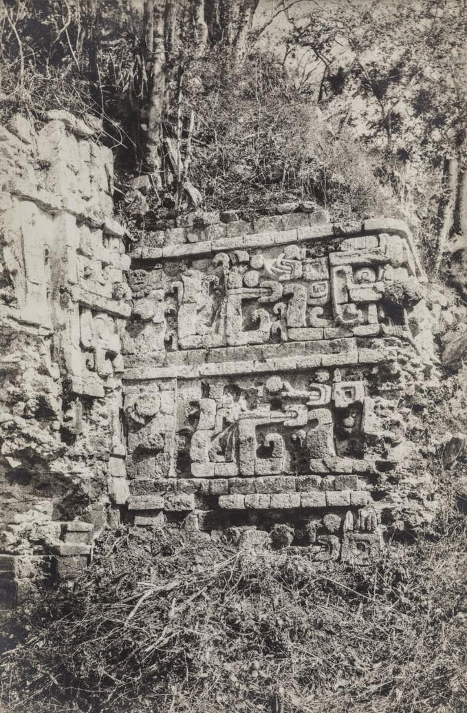 08. Рельеф фасада в храме великого храма в руинах майя Xkichmol