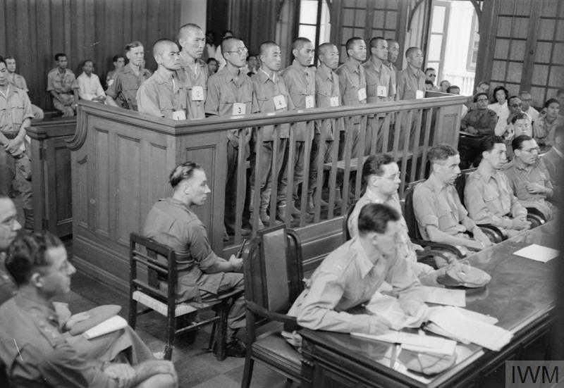 WAR CRIMES TRIALS AT SINGAPORE, 1946