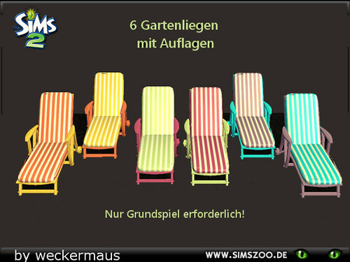 Outdoor loungers with recolors by weckermaus
