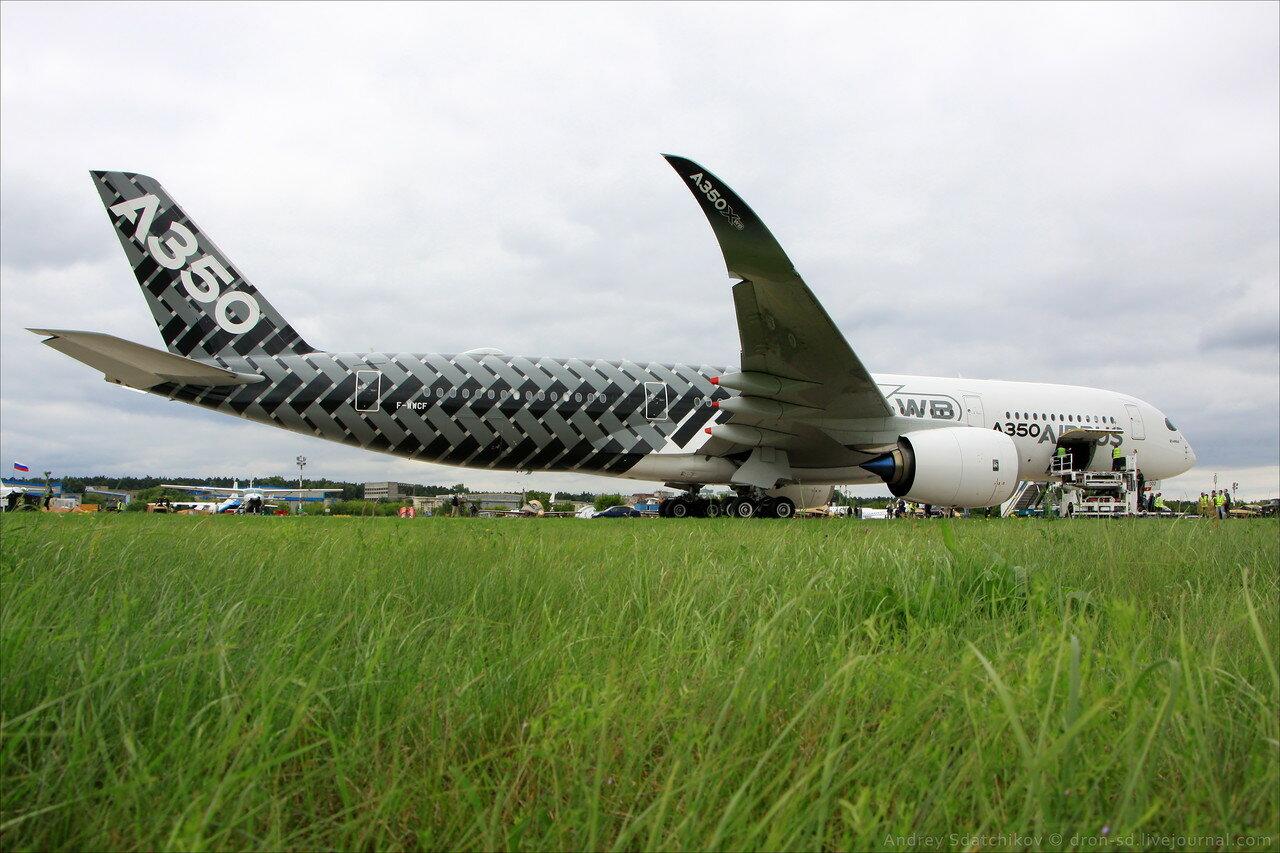 Airbus A350 на авиасалоне МАКС-2017. Фото: dron-sd.livejournal.com