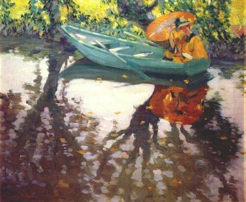 Лоутон Сайлас Паркер Lawton S. Parker; 1868 — 1954 Оранжевый зонтик.