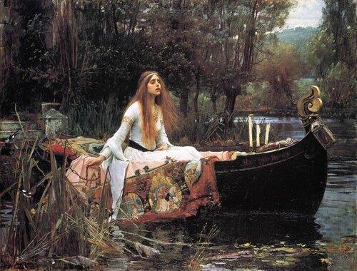 «Леди из Шалот», картина Джона Уильяма Уотерхауса,1888