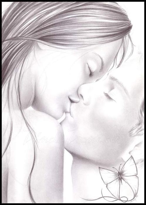 Открытка. День поцелуя! Поцелуй любви