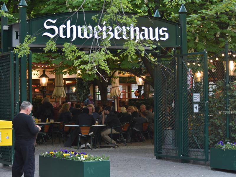 Schweizerhaus в парке Пратер в Вене