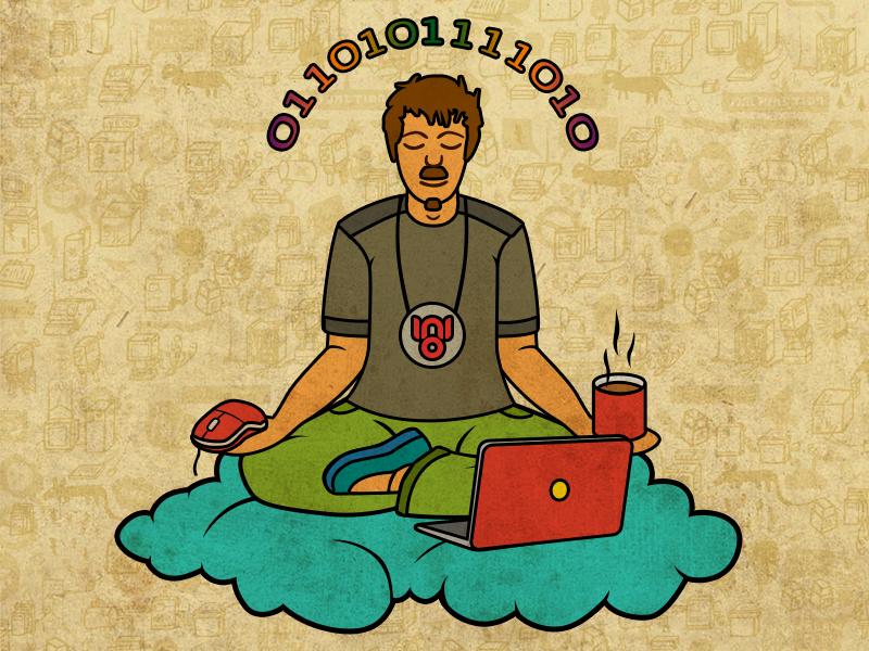 Поздравительная открытка для компьютерщика
