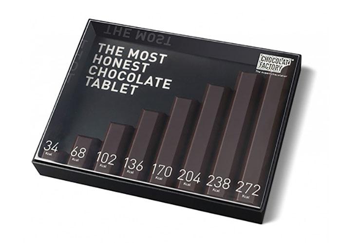 Самая честная упаковка шоколада — на каждой порции написано, сколько в ней калорий.