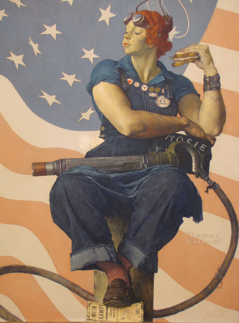 ВСША вовремя Второй мировой войны началась национальная кампания сцелью побудить женщин, никогда