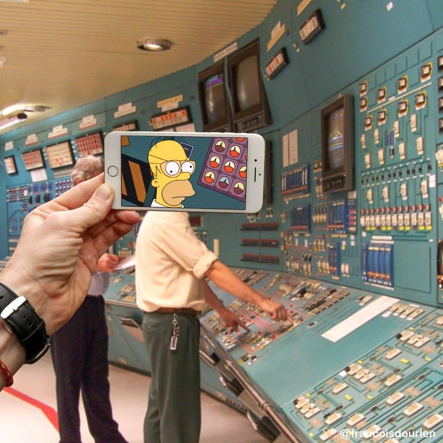 Персонажи Симпсонов в ситуациях реальной жизни