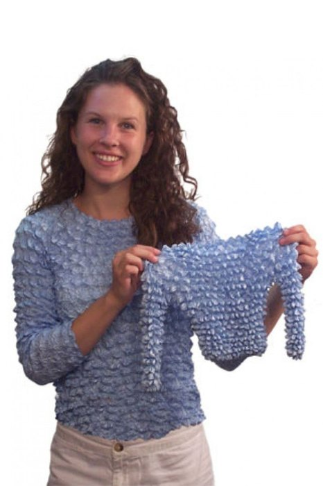 …и «рифленые» топы, среди западных модниц именовавшиеся «попкорн-топами». 2000-е: плюшевые костюмы,