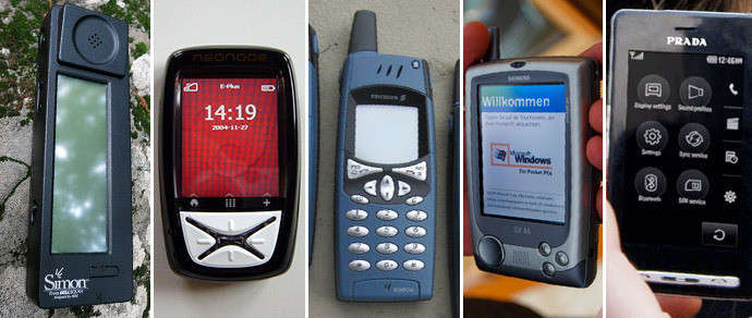 Сенсорные телефоны до эпохи iPhone (18 фото)