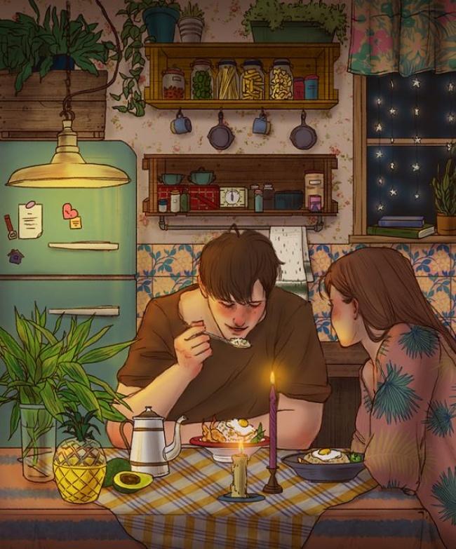 © Hyocheon Jeong  Влюбленность— это когда хочется часами смотреть напрекрасное тело напротив